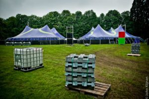 ParkCity Live terrein in opbouw 90' Stage en dance Palace