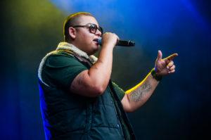 Ali-B (& Brownie Dutch, Yes-R en Daryll) live tijdens ParkCity Live, Heerlen 6-7-2014